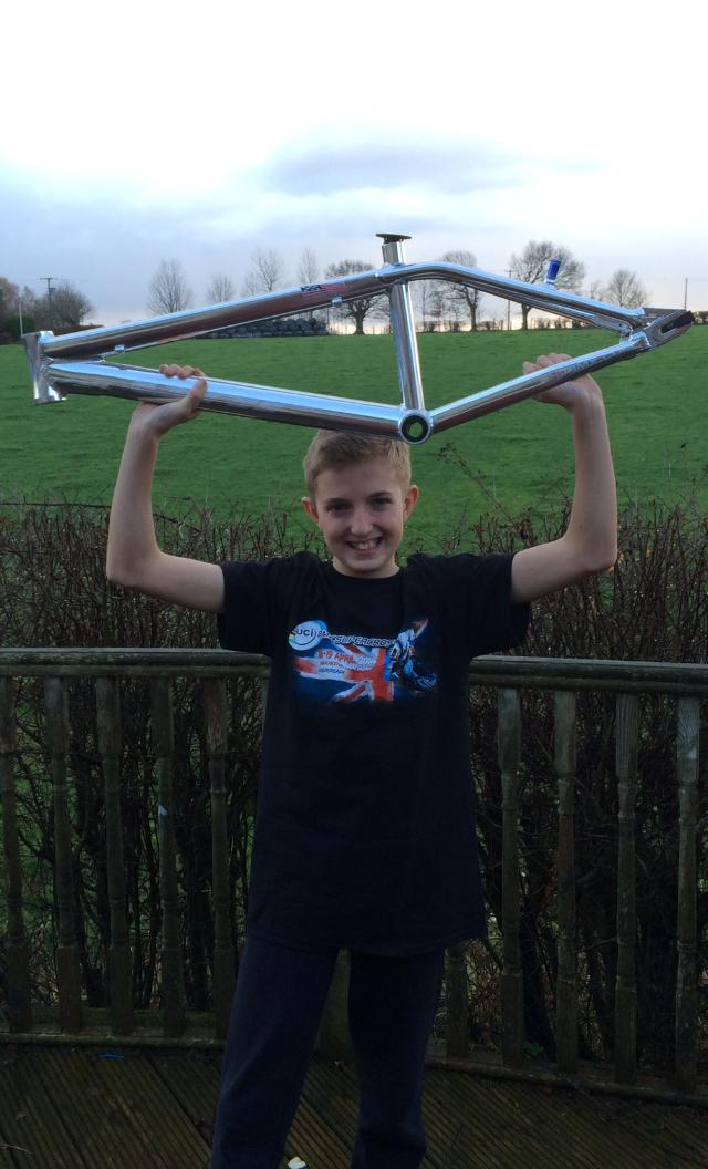 Lewis Holding BMX frame