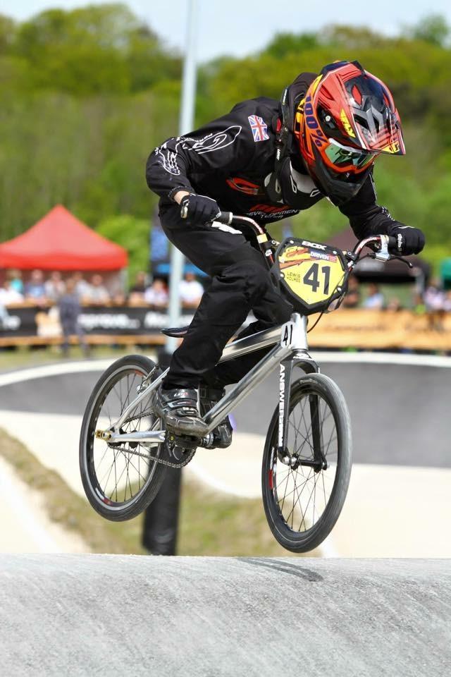 Lewis Holmes Racing mid-jump BMX
