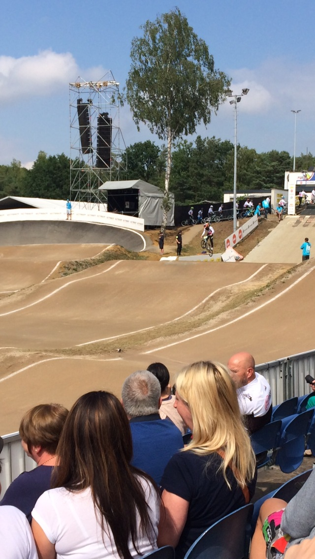 Lewis Holmes Racing on BMX track