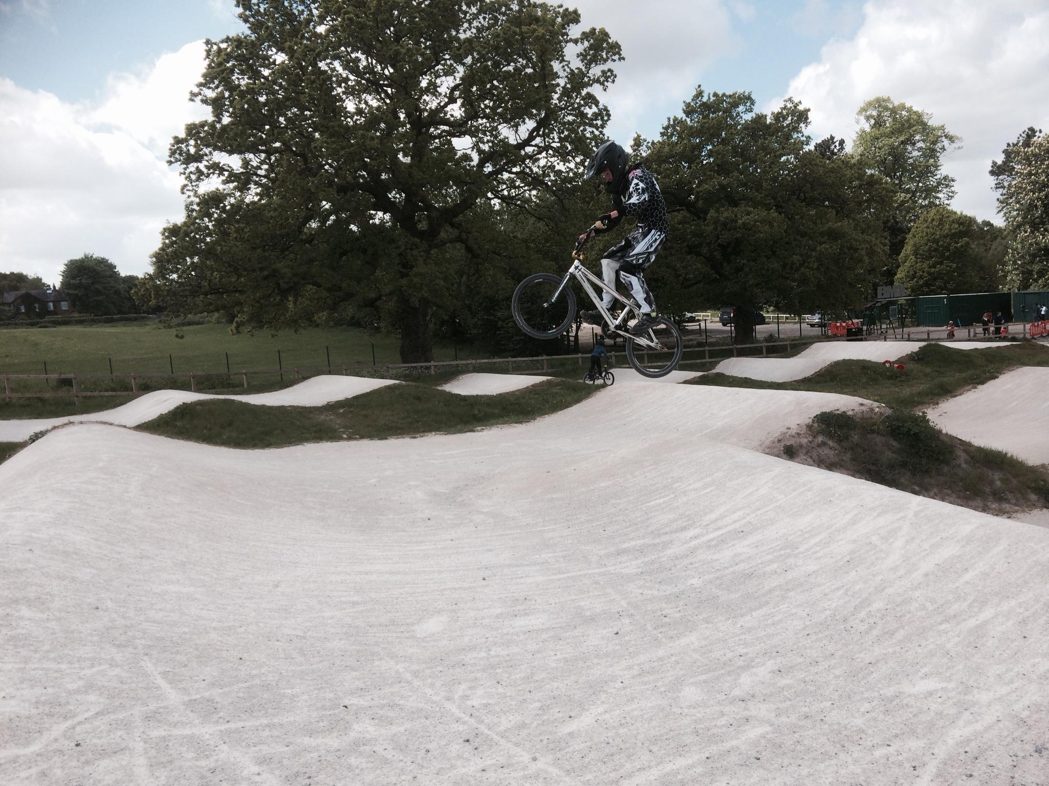 Lewis holmes Practice jumping BMX
